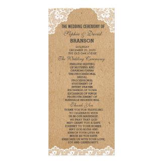 Program för bröllop för papper för