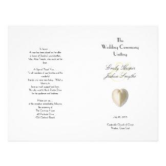 Program för ceremoni för bröllop för