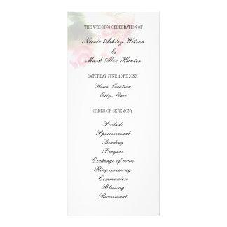 Program för ceremoni för bröllop för rosa