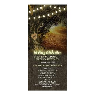 Program för ceremoni för bröllop för träd för
