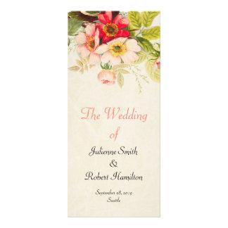 Program för ceremoni för bröllop för vintagero
