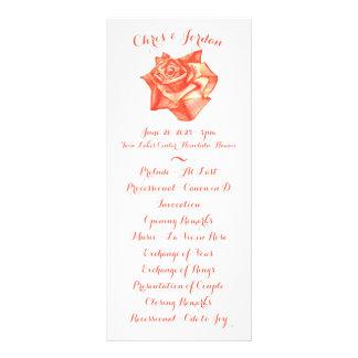 Program för ceremoni för elegant bröllop för