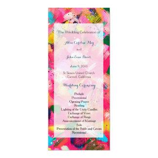 Program för ceremoni för konfettistormbröllop 10,2 x 23,5 cm inbjudningskort