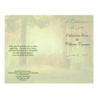 Program för elegant bröllop för skogenskog