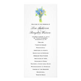Program för vattenfärgblommaelegant bröllop