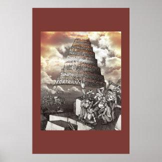 Programmera språktorn av Babel Poster