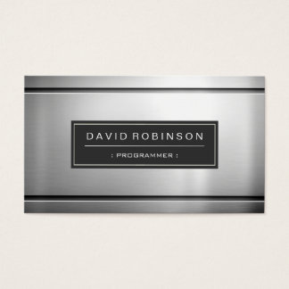 Programmerare - högvärdig silvermetall visitkort