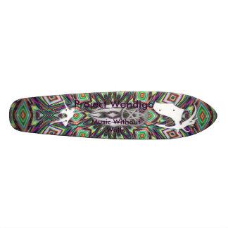 Projektera Wendigo musik utan väggar Old School Skateboard Bräda 18 Cm