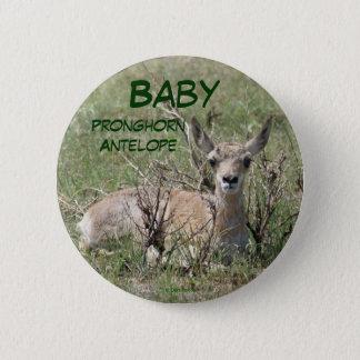 Pronghorn för baby A0007 antilop Standard Knapp Rund 5.7 Cm