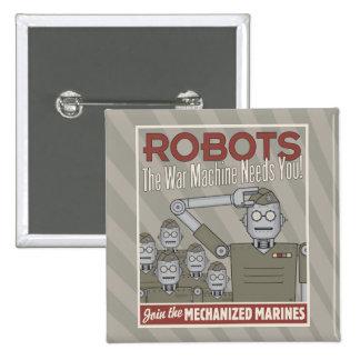Propaganda för militär för vintagestilrobot