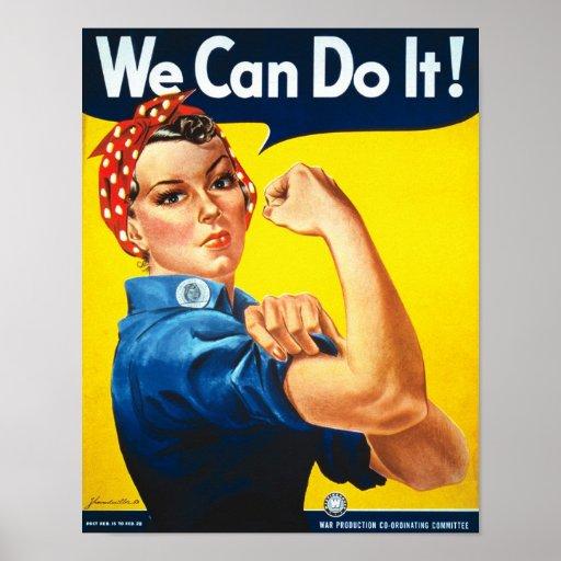 Propaganda för Rosie Rivetervintage Affisch