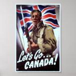 Propaganda för vintage WW2 Affischer