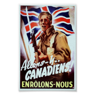 Propaganda för vintage WW2 Poster