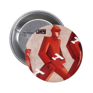 Propagandaaffischen för CCCP URSS knäppas Standard Knapp Rund 5.7 Cm
