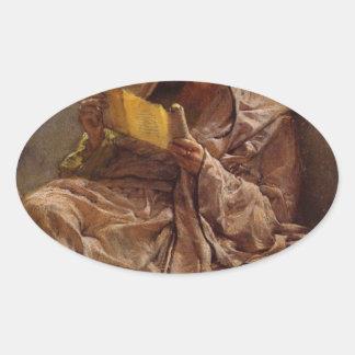 Prosa vid herr Lawrence Alma-Tadema Ovalt Klistermärke