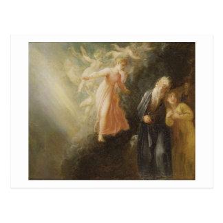 """Prospero, Miranda och Ariel, från """"stormen"""", c Vykort"""