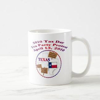 Protest för party för Tea för Texas skattdag Kaffemugg