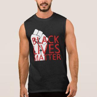 Protest för polisbrutalitet för svartlivmateria t-shirts utan ärmar