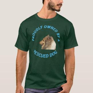 Proudly ägt av en räddad hund tröja