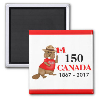 Proudly kanadensisk årsdag för bäver 150 magnet