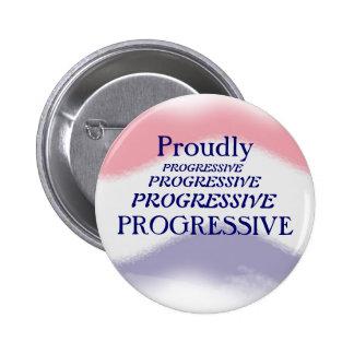 Proudly knäppas progressivt politiskt standard knapp rund 5.7 cm