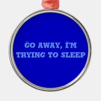 Pröva att sova, att smycka julgransprydnad metall