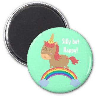 Pröva Kawaii brun häst att vara en Unicorn Magnet För Kylskåp