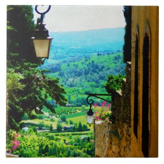 Provence beskådar från Gordes Kakelplatta