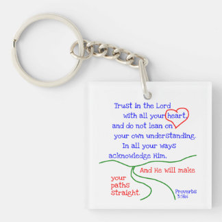 Proverbs3:5 &6 Keychain