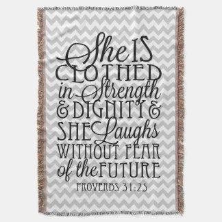 Proverbs 31/styrka- & värdighetsparrefilt dekorativ filt