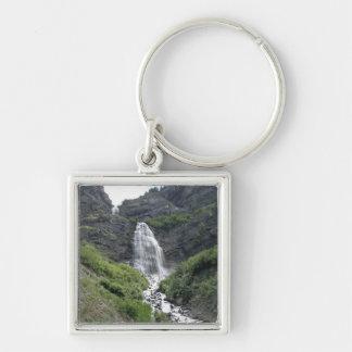 Provo kanjonvattenfall fyrkantig silverfärgad nyckelring