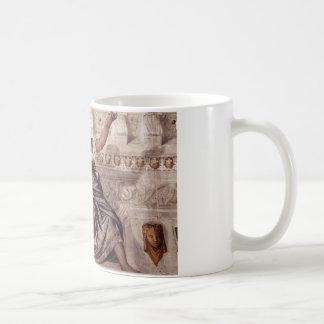 Prudence och Manly förtjänst av Paolo Veronese Kaffemugg