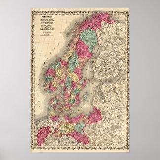 Prussiasverigenorge och Danmark Poster