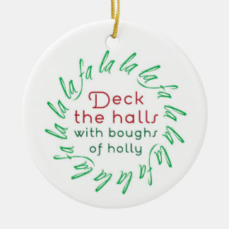 Pryda korridorerna med lövruskor av julgransprydnad keramik