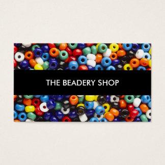 Pryda med pärlor att tillverka visitkortar visitkort