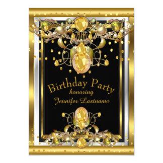 Prydd med ädelsten födelsedagsfest inbjudan för 12,7 x 17,8 cm inbjudningskort