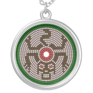 Prydd med pärlor apa silverpläterat halsband