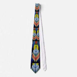 Prydd med pärlor fjäderdesign slips