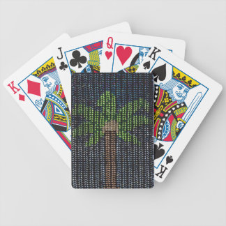 Prydd med pärlor handflatannatt spelkort