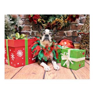 Prydlig jul - Boston Terrier - Vykort