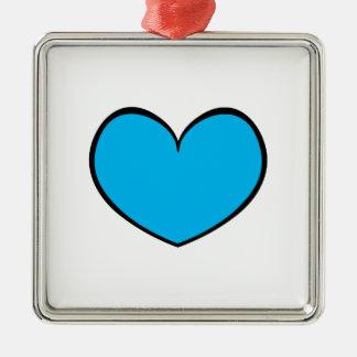 Prydnad 0001 för singelblåtthjärta julgransprydnad metall
