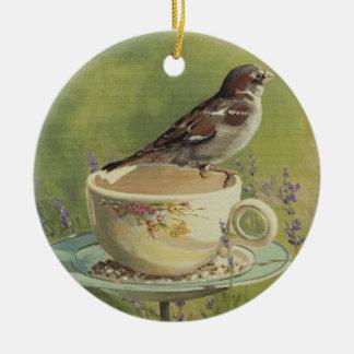Prydnad för 0470 Sparrow Julgransprydnad Keramik