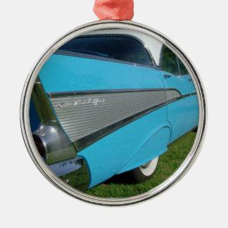 prydnad för 1957 57 blåttChevy Bel Air jul Julgransprydnad Metall