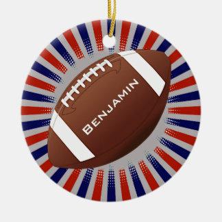 Prydnad för amerikanfotbolldesign julgransprydnad keramik