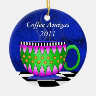 Prydnad för Amigas Tuscan kaffekopp Julgransprydnad Keramik