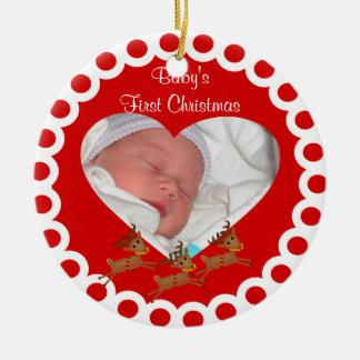 Prydnad för Babys första julminnessak Julgransprydnad Keramik