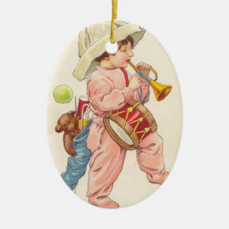 Prydnad för Bugler för vintagejulpojke Julgransdekoration
