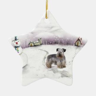 Prydnad för Cesky Terrierjul Julgransprydnad Keramik