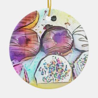 Prydnad för Donuts 12017 Julgransprydnad Keramik