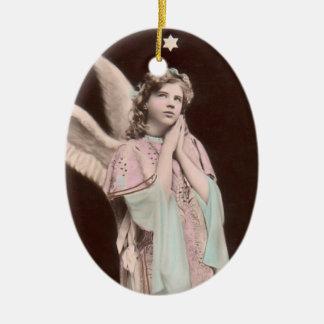 prydnad för flicka för vintagesnöängel jul dekorationer